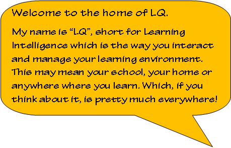 Rounded Rectangular Callout: Welcome to the home of LQ.